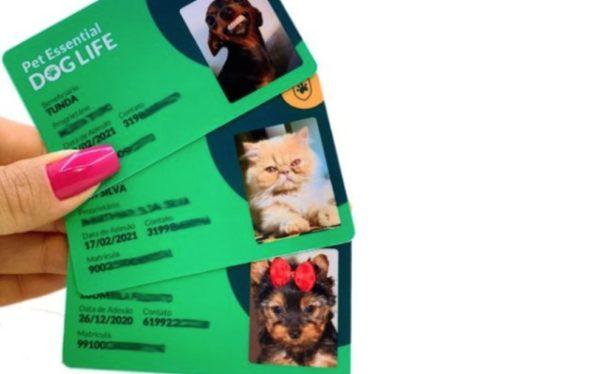 Carteirinha para plano de saúde Pet