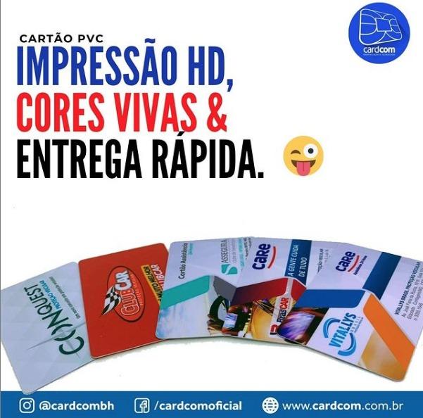 Cartão em PVC impressão HD