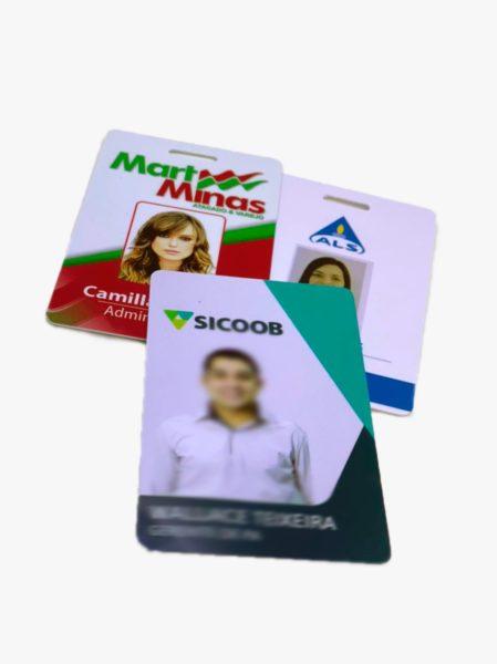 Crachá PVC atendimento virtual produção (31) 99229-6224
