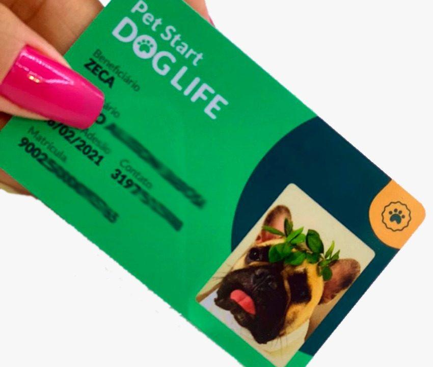 Crachá para plano de saúde Pet PVC preço em BH