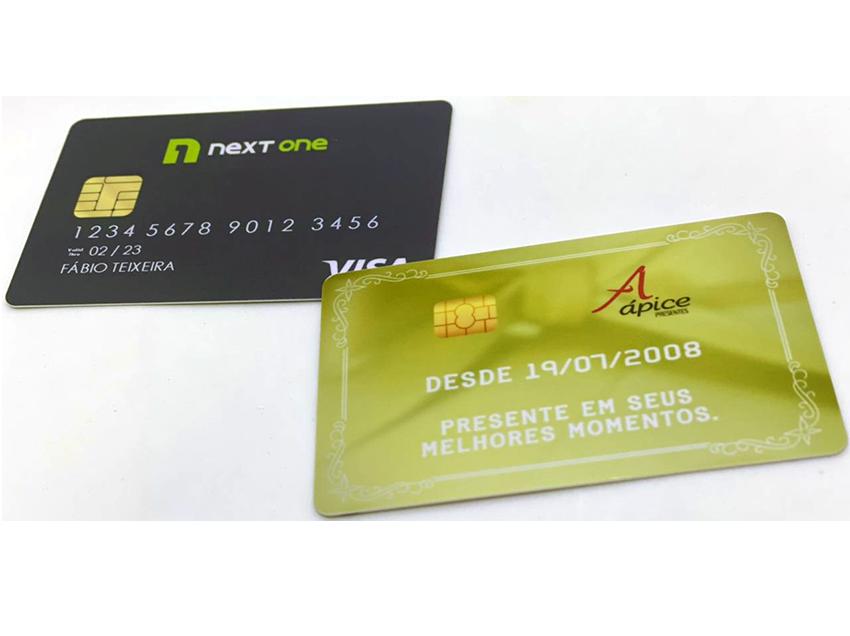 Cartão de PVC com chip